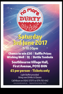 No More Durty Water fundraiser Southbourne 3 June